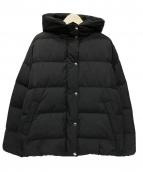 ROPE mademoiselle(ロペマドモアゼル)の古着「ボリュームフードダウンジャケット」|ブラック