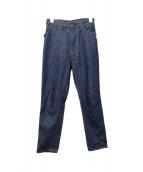 45rpm(45アールピーエム)の古着「藍茜比女ワンウォッシュデニムパンツ」|ブルー