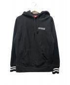 Supreme(シュプリーム)の古着「ストライプドカフフーデットスウェットシャツパーカー」|ブラック