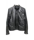 Calvin Klein Jeans(カルバンクラインジーンズ)の古着「レザージャケット」 ブラック