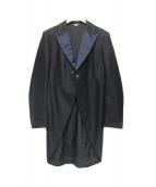 COMME des GARCONS HOMME DEUX(コムデギャルソンオムデュー)の古着「燕尾テーラードジャケット」|ブラック×ネイビー