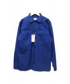 Serge Blanco(セルジュブランコ)の古着「ワークシャツ」 ブルー