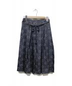 MARGARET HOWELL(マーガレットハウエル)の古着「OUTLINE SPOT SILK スカート」