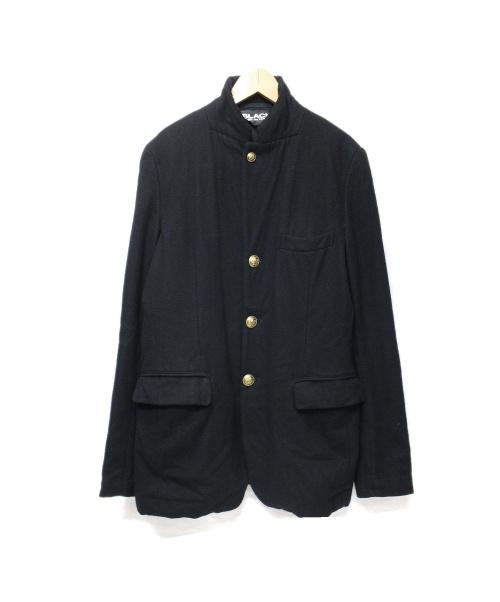 BLACK COMME des GARCONS(ブラックコムデギャルソン)BLACK COMME des GARCONS (ブラックコムデギャルソン) ウールテーラードジャケット サイズ:Sの古着・服飾アイテム