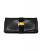 Salvatore Ferragamo(サルヴァトーレ フェラガモ)の古着「2つ折り財布」 ブラック