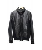 AKM(エーケーエム)の古着「レザージャケット」|ブラック