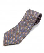 HERMES(エルメス)の古着「ネクタイ」|ブラウン×ネイビー