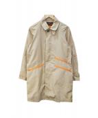WILD THINGS×KATO(ワイルドシングス×カトー)の古着「ステンカラーコート」 ベージュ