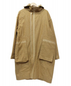 β(ベータ)の古着「ライトメルトンフーデッドコート」 ベージュ