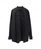 DRESSEDUNDRESSED(ドレスドアンドレスド)の古着「D BACK PRINTED OVERSIZED DENIM」|ブラック