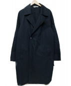 PORTER CLASSIC(ポータークラシック)の古着「WEATHER LONG COAT」 ブラック