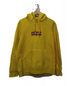 WACKO MARIA(ワコマリア)の古着「HEAVY WEIGHT PULLOVER HOODED S」 イエロー