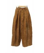 HARVESTY(ハーベスティー)の古着「コーデュロイサーカスパンツ」|ブラウン
