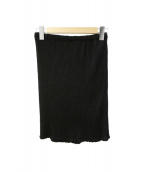 me ISSEY MIYAKE(ミー イッセイ ミヤケ)の古着「プリーツスカート」|ブラック