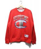 Supreme × CHAMPION(シュプリーム × チャンピオン)の古着「クロームクルーネック」|レッド