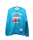 Supreme × CHAMPION(シュプリーム × チャンピオン)の古着「クロームクルーネックスウェット」|ブルー