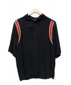 DIESEL(ディーゼル)の古着「襟切替シャツ」|ブラック