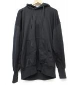 Y-3(ワイスリー)の古着「STACKED LOGO HOODIE Black」|ブラック