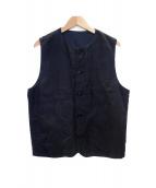 nest Robe CONFECT(ネストローブコンフェクト)の古着「Over Dyed Linen Crew Neck Vest」
