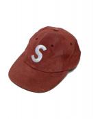 SUPREME(シュプリーム)の古着「Sロゴ6パネルキャップ」 バーガンディー