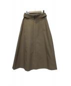 ebure(エブール)の古着「ポリエステルコットンツイルベルテッドスカート」|ベージュ