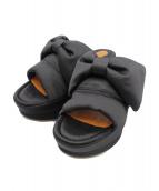 CHIE MIHARA(チエミハラ)の古着「厚底リボンサンダル」|ブラック
