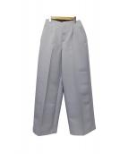 M-PREMIER(エムプルミエ)の古着「ワイドパンツ」|サックスブルー