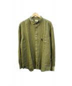 Serge Blanco(セルジュブランコ)の古着「リネンシャツ」 グリーン