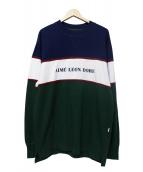 Aime Leon Dore(エメレオンドレ)の古着「パネル切替スウェット」|グリーン