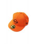 F.C.R.B.×NEW ERA(エフシーリアルブリストル ニューエラ)の古着「キャップ」|オレンジ