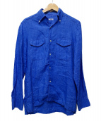 BARBA(バルバ)の古着「リネンシャツ」|ブルー