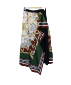 Mystrada(マイストラーダ)の古着「スカーフ柄スカート」|ネイビー×グリーン