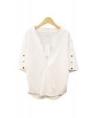 CINOH(チノ)の古着「V NECK T-SHIRT」|ホワイト