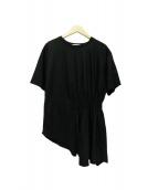 ADORE(アドーア)の古着「シャーリングTシャツ」|ブラック