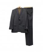 VAN BROTHERS(ヴァン ブラザーズ)の古着「ストライプセットアップスーツ」|ブラック