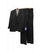 VAN BROTHERS(ヴァン ブラザーズ)の古着「ストライプセットアップスーツ」|チャコールグレー