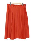 UNTITLED(アンタイトル)の古着「ダブルプリーツスカート」 レッド