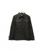 INTERMEZZO(インターメッツォ)の古着「スウェードタッチジャケット」|ブラウン