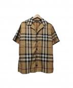BURBERRY LONDON(バーバリーロンドン)の古着「チェックシャツ」|ブラウン×ベージュ
