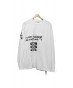 FPAR(FORTY PERCENT AGAINST RIGHTS)(フォーティーパーセントアゲインストライツ)の古着「長袖Tシャツ」 ブラック×ホワイト
