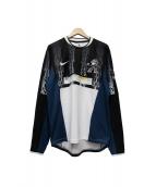 C.E×NIKE(シーイー×ナイキ)の古着「ロングスリーブTシャツ」 ネイビー×ブラック