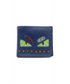 FENDI(フェンディ)の古着「2つ折り財布」|ブルー