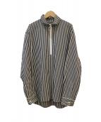 OPENING CEREMONY(オープニングセレモニー)の古着「ハーフジップシャツ」|ブラック×ホワイト