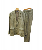 ITEMS URBAN RESEARCH(アーバンリサーチ)の古着「リネンセットアップスーツ」|カーキ