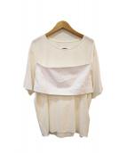 MM6(エムエムシックス)の古着「TEE W COTTON INSERT」|ホワイト