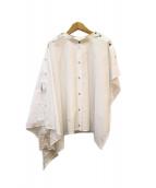 MM6(エムエムシックス)の古着「ポンチョブラウス」|ホワイト