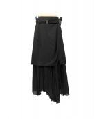 ELENDEEK(エレンディーク)の古着「レイヤープリーツスカート」 ブラック