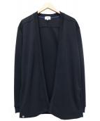 LANVIN en Bleu(ランバンオンブル)の古着「ダンボールニット着流しカーデ」|ブラック