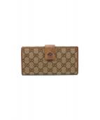 GUCCI(グッチ)の古着「GGキャンバス長財布」|ブラウン