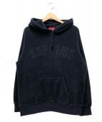 Supreme(シュプリーム)の古着「ポーラテックフーデットスウェットシャツ」|ネイビー